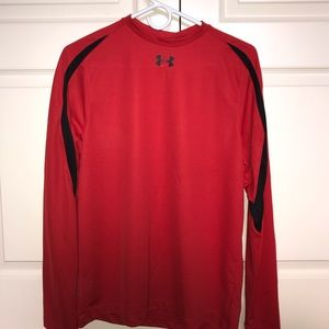 Red under armour performance shirt
